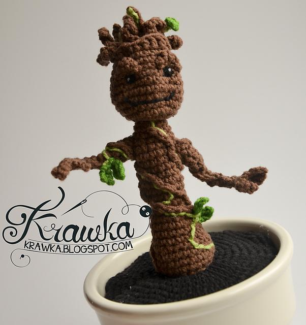 Baby Groot Knitting Pattern : Geeky Patterns   The Knitter Nerd