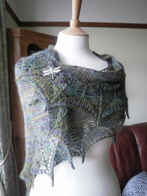From the Ravelry project page for Dragonfly Wings by Boo Knits, photo hers.