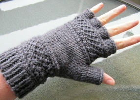 From Victoria Ann Baker's Ravelry pattern Page: Treads, A Tipless Gloves Pattern