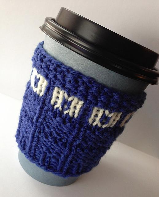 Tardis Cup Cosy - Knitter Nerd