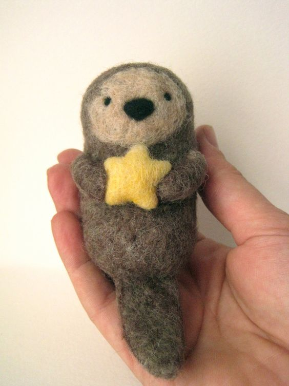 Sea otter adorable needle-felting