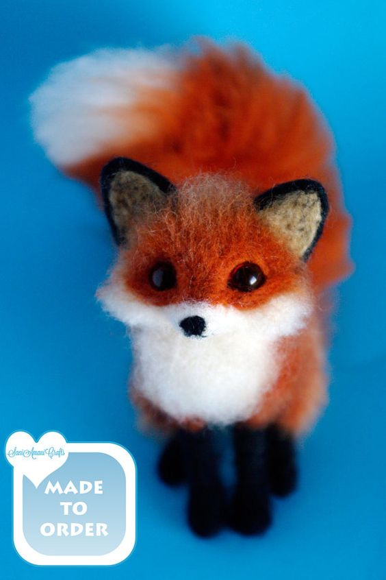 Cute needle-felted fox.